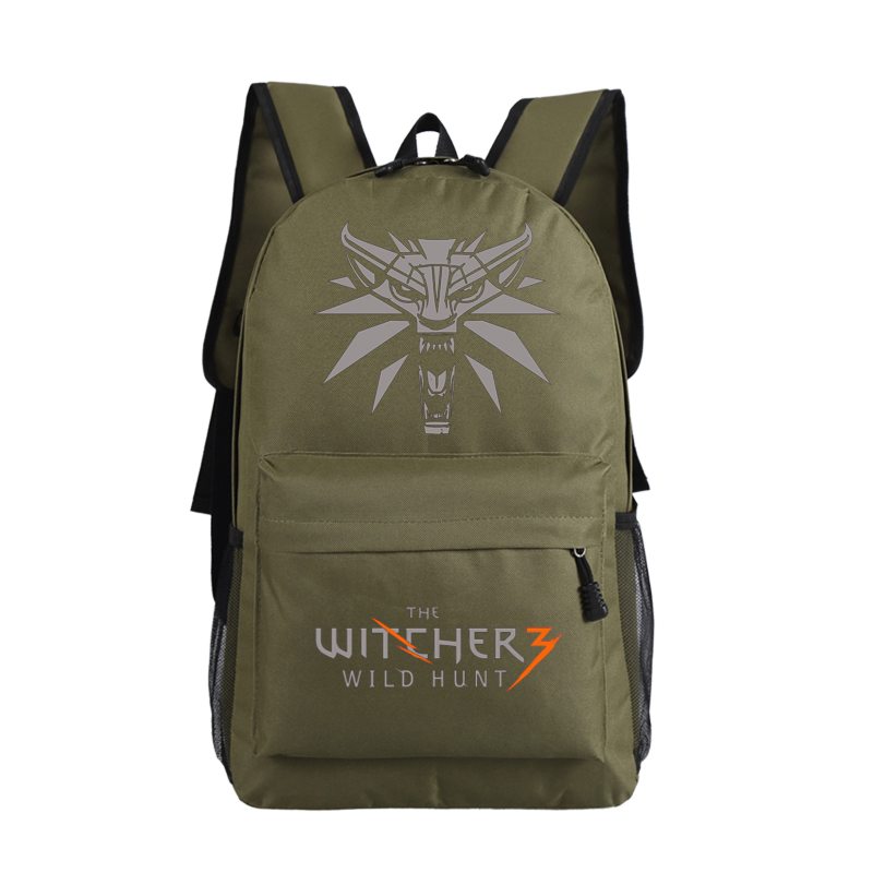 2018 Game The Witcher 3: Wild Hunt Printing Backpack Canvas Men Backpack Witcher School Bags Laptop Backpack Travel Rucksack электронная версия для xbox microsoft the witcher 3 wild hunt game of the year edition