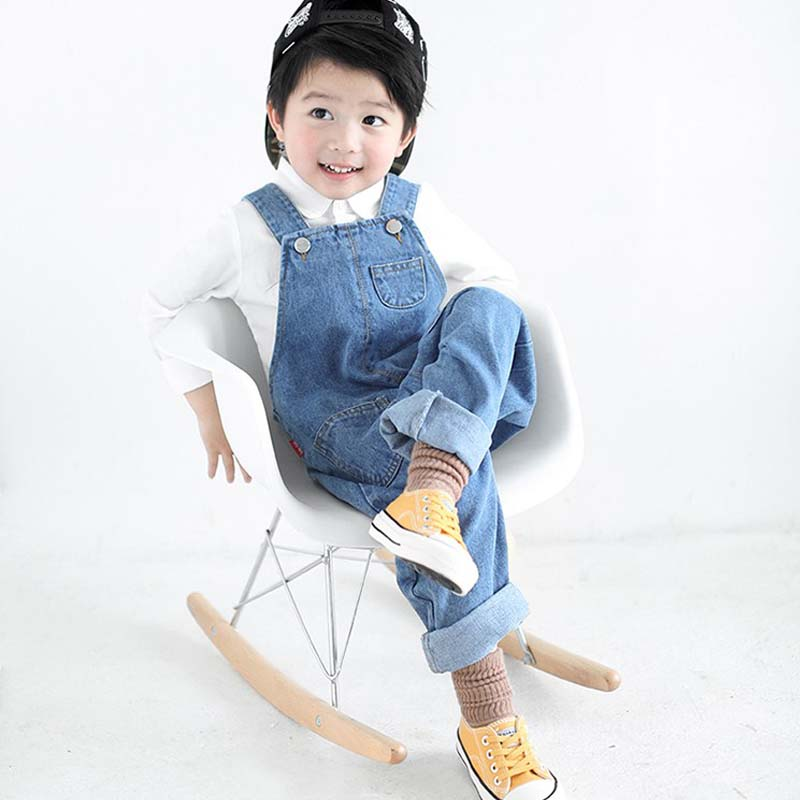Boys Overalls Jeans 2018 Spring Fashion Kids Clothing Denim Overalls Pants Cowboy Jumpsuit Bib Pants Kids Baby Overalls for 2-8T 2016 spring autumn fashion brand mens slim jeane overalls casual bib jeans for men male ripped denim jumpsuit