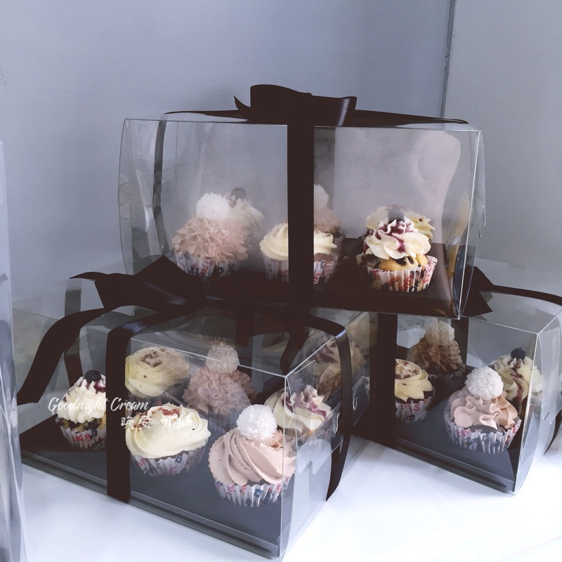 10sets Clear Plastic Bakery <font><b>Case</b></font> transparent <font><b>Cup</b></font> Cake Cookies pastry biscuits Boxes Baking packaging <font><b>container</b></font> hold <font><b>6</b></font> Cupcakes