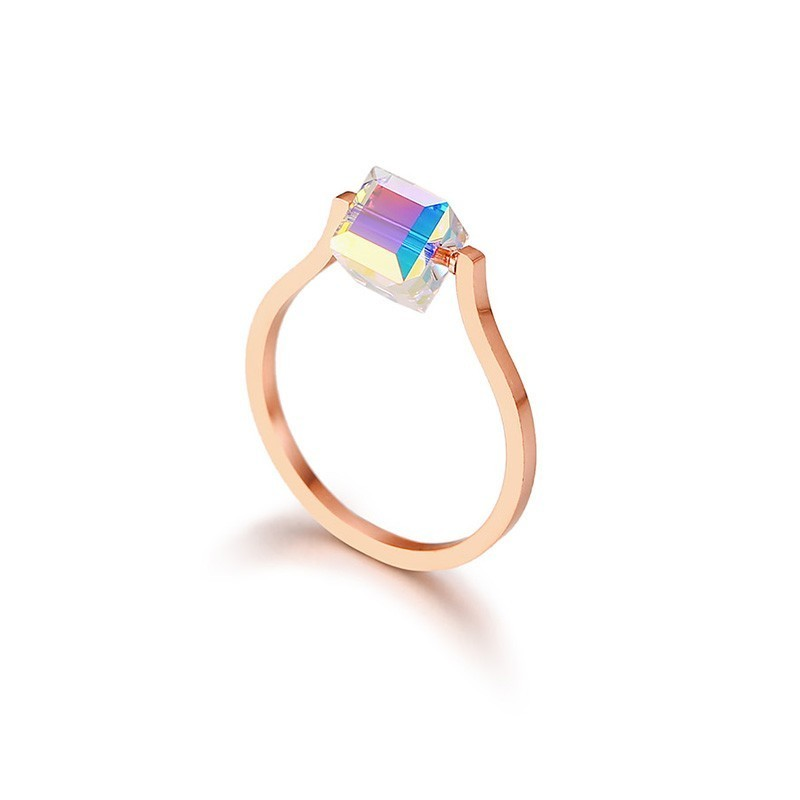 Newest Woman Engagement Ring 585 Rose Gold Magic Crystal Stone Fashion Brand Jewelry yoursfs® alliance gold 585 blue heart stone promise ring rose gold plated created sapphire turkish jewelry wedding engagement ring