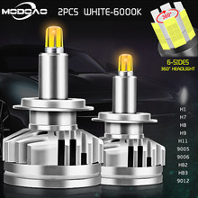 1Pair Led Car Headlights 18000LM H1 H7 white 6000K H11 9012 Led Canbus H8 HB3 9005 HB4 9006 3D 360 degree Auto Fog Lights DRL(China)