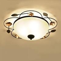 Американский Железный узор потолочный светильник творческий Гостиная Спальня Освещение лакированный коридор Освещение потолочные светил