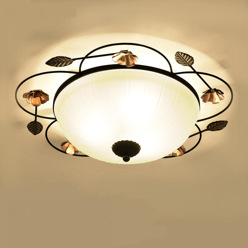 American Iron Pattern Ceiling Light Creative Living Room Bedroom Lighting Lacquered Corridor Lighting Ceiling lamps ZA