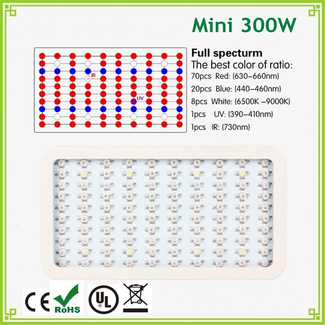 1pcs Newest Full Spectrum 300W LED Grow Light 100X3W Grow Plant Led Lamps For Indoor Flower Growing and Blooming