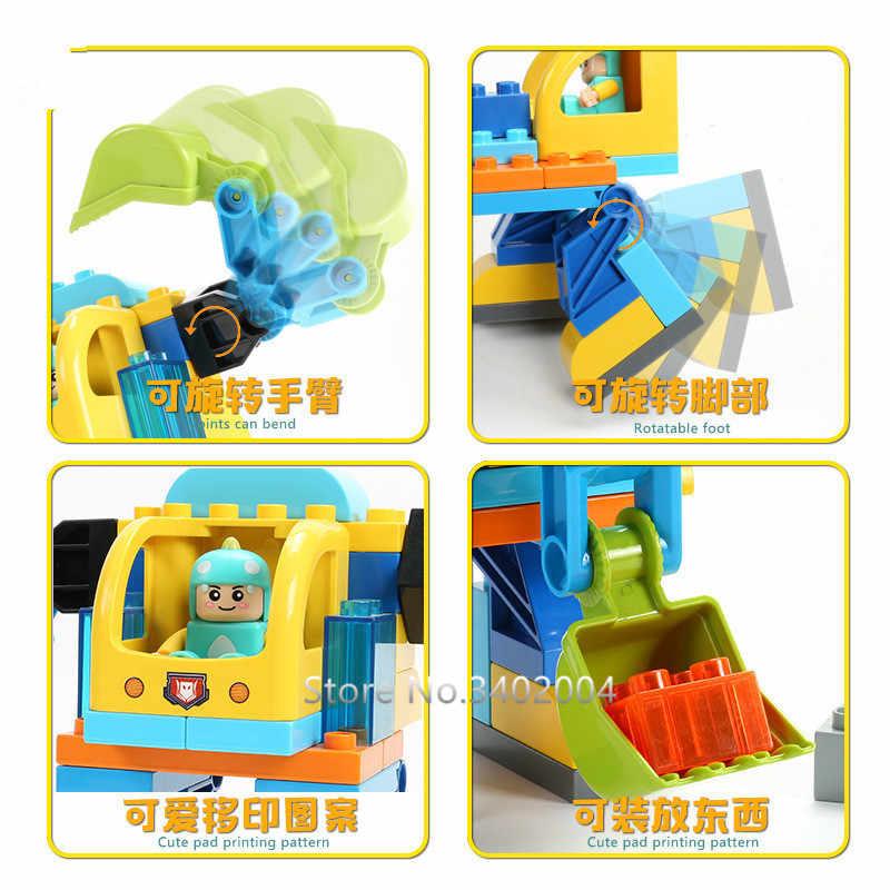 36 шт. робот игрушка-конструктор DIY крупные частицы строительные блоки наборы Развивающие игрушки для детей Совместимость с legoingly Duplo кирпичи