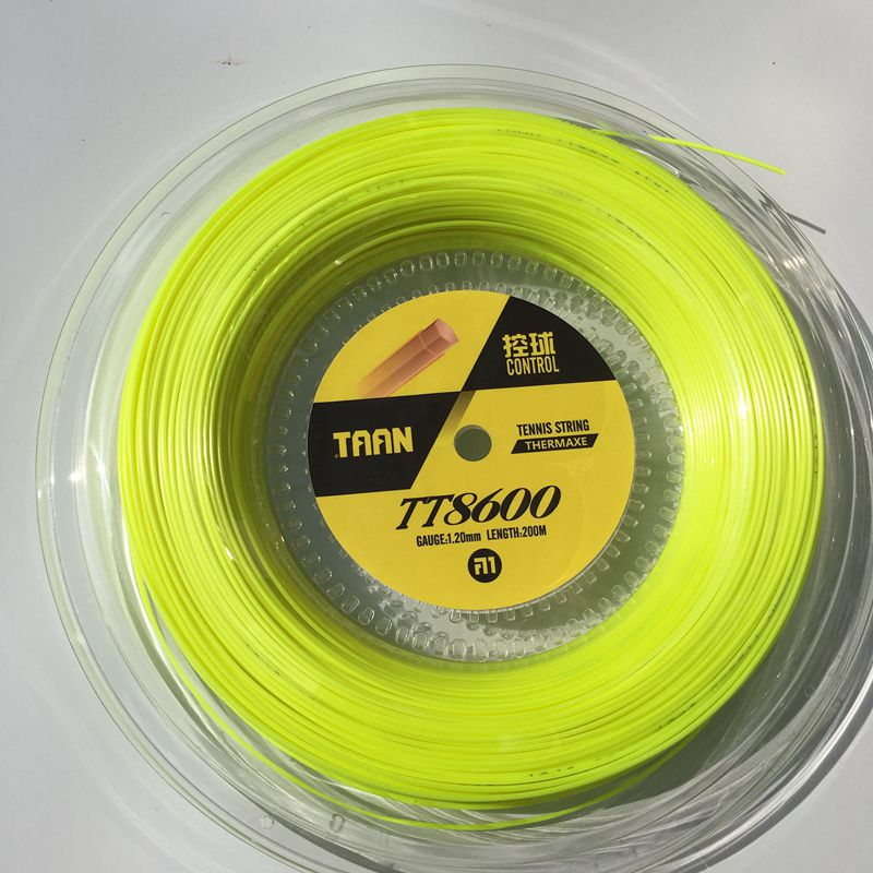 1 Reel TAAN TT8600 Control Tennis strings polyester 6-angle hard-line strings 1.20mm tennis racket string 200M big banger zarsia 200m flash nylon tennis string 16g 1 35mm multifilamen tennis rackets string squash strings synthetic tennis strings