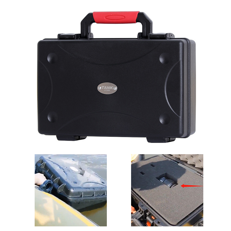 335x240x110mm Protective Safety Toolbox Plastic Sealed Waterproof Equipment Case Photographic Instrument No Exhaust Valve