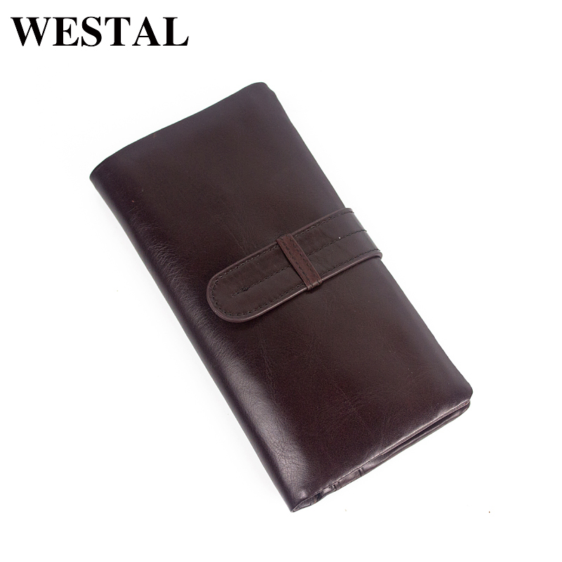 WESTAL Wallet Male Genuine Leather Men's Wallets for Credit Card Holder Clutch Male bags Coin Purse Men's Genuine leather 6018 westal genuine leather wallet male clutch men wallets male leather wallet credit card holder multifunctional coin purse 3314