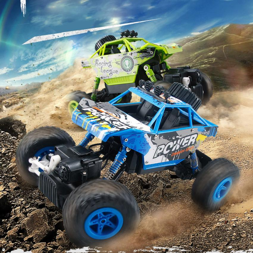 1/18 2.4GHZ 4WD Radio Remote Control Off Road RC Car ATV Buggy Monster Truck Dirt Bike RC toy  children car model toy sandy land truck with light remote control dirt bike 9301 1 rc car 1 18 2 4g 2wdelectric racing car