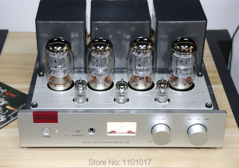 RFTLYS A2 KT88 Push Pull Tube Amplifier HIFI EXQUIS Integrated 12AU7 Lamp AMP With Bluetooth music hall latest muzishare x7 push pull stereo kt88 valve tube integrated amplifier phono preamp 45w 2 power amp
