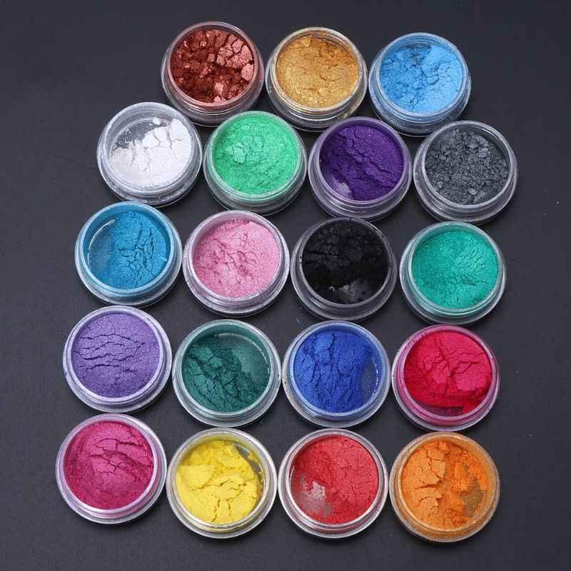 19 colores, resina de epoxy, joyería de madera, colorante tinte pigmento de mica de perla en polvo superfino resina tinte arte