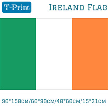 лучшая цена 90*150cm/60*90cm/40*60cm/15*21cm Ireland National Flag Polyester Irish 3x5FT Banner For World Cup National Day Olympic Games