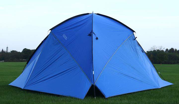 Hillman 3 Walls 480*480*200CM high quality waterproof camping outdoor sun shelter camping tent large awning outdoor folding portable 480 480 480 200cm large space hexagon atrium waterproof beach tent camping hiking sun shelter awning