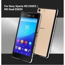Для Sony Xperia M5 E5603 E5606 E5653 бампер случаях двухцветный металлический бампер рамы снарядов для Sony Xperia M5 E5603 M5 Dual чехлы