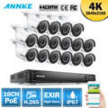 ANNKE 16CH 4K Ultra HD POE Network Video Security System 8MP H.265 NVR With 16X 8MP Weatherproof IP Camera Surveillance CCTV Kit