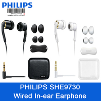Original Philips SHE9730 In Ear Wired headset with Black/White box High Sound Qualitiy Earphones With Microphone for smart phone