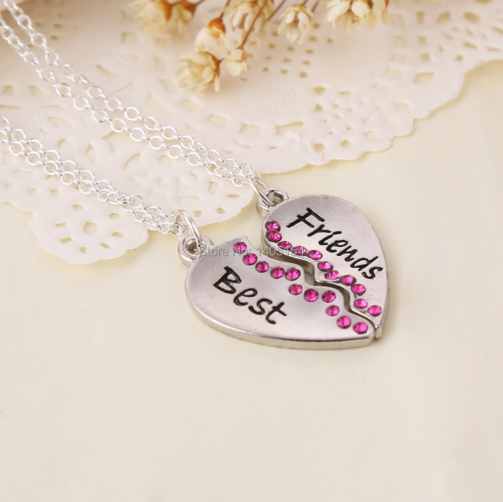 Best friends forever three part necklace, friendship necklace includes beautiful gift bag for each nec