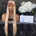 150% Density Brazilian Lace Front Wigs Straight Blonde Full Lace Human Hair Wig Unprocessed Virgin Hair Glueless Full Lace Wigs