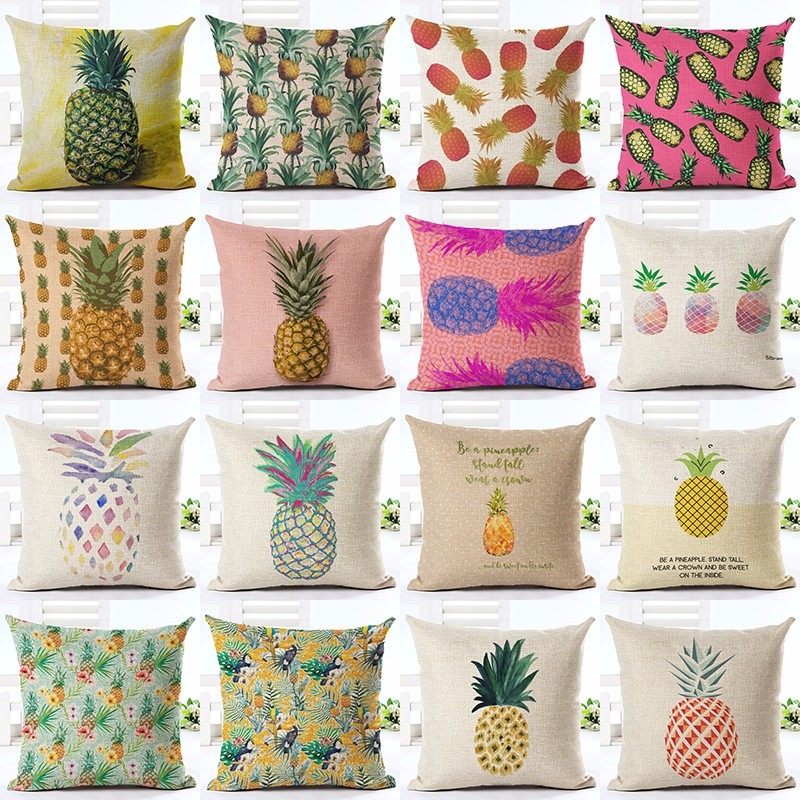 New Flamingo Customized Cushion Covers Pineapple Flower Birds Custom Pillows Cover 20Styles Geometry Baby Sofa Decoration Gift