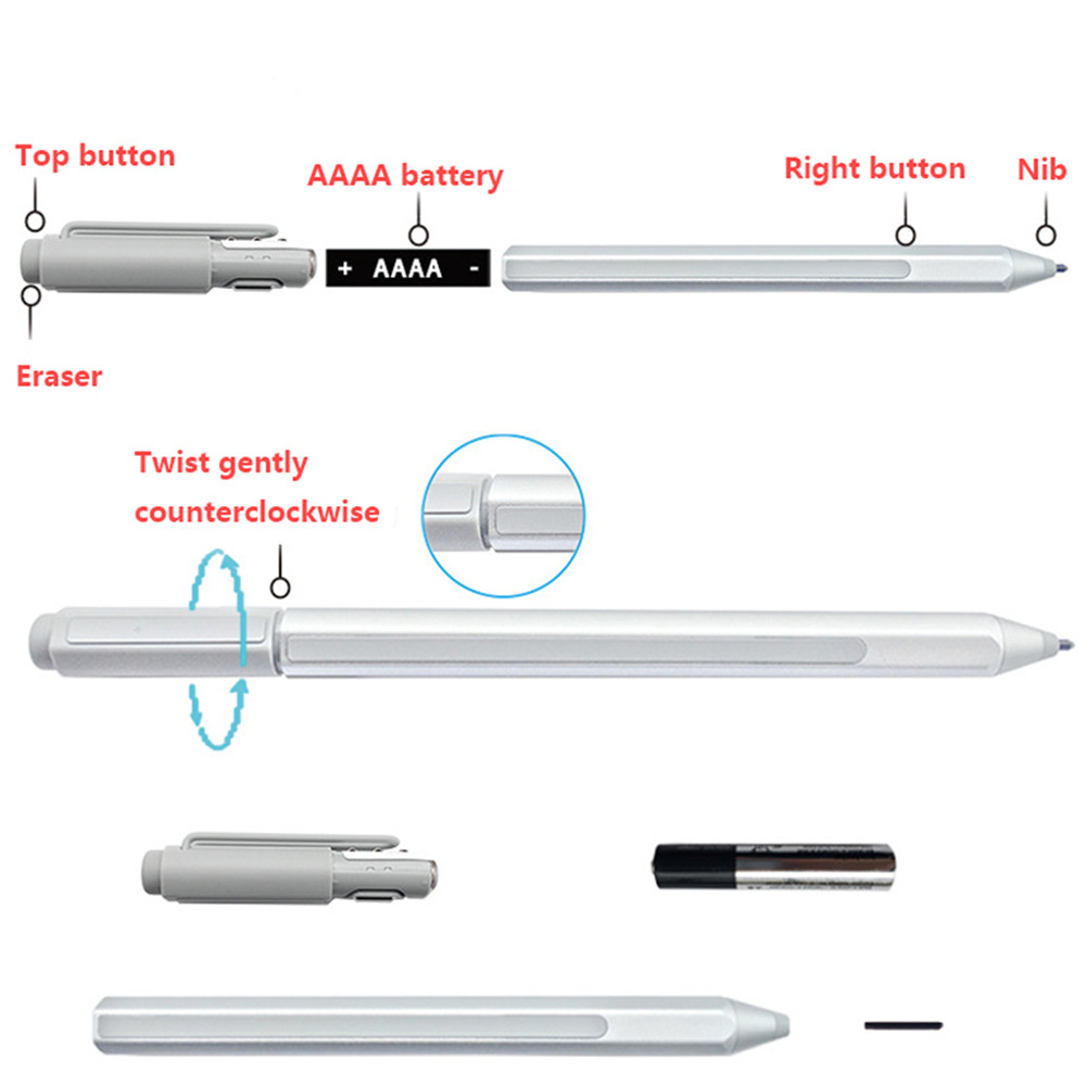 Touch Pen for Microsoft Surface 3 Surface Pro 3 Surface Pro 4 Surface Book Stylus Replacement Touch Pen Stylus