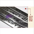 free shipping swift Stainless Steel Scuff Plate/Door Sill 4pcs/set car accessories for swift cd