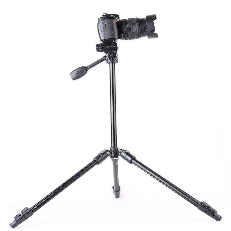 QZSD Q108 Lightweight Portable Tripod for Travel Design Camera Smartphone Tripod with Fluid Handle Head Suit for Kamera Kit