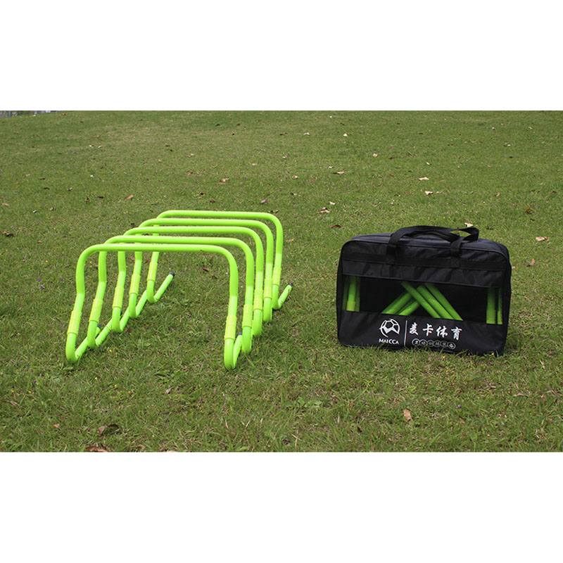 MAICCA Soccer training speed hurdle with carry bag Folding football hurdles adjustable for jumping wholesale new durable 9 rung 16 5 feet 5m agility ladder for soccer and football speed training with carry bag fitness equipment ea14
