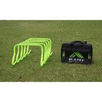 MAICCA Soccer training velocità hurdle con borsa per il trasporto calcio Pieghevole ostacoli regolabile per il salto all'ingrosso