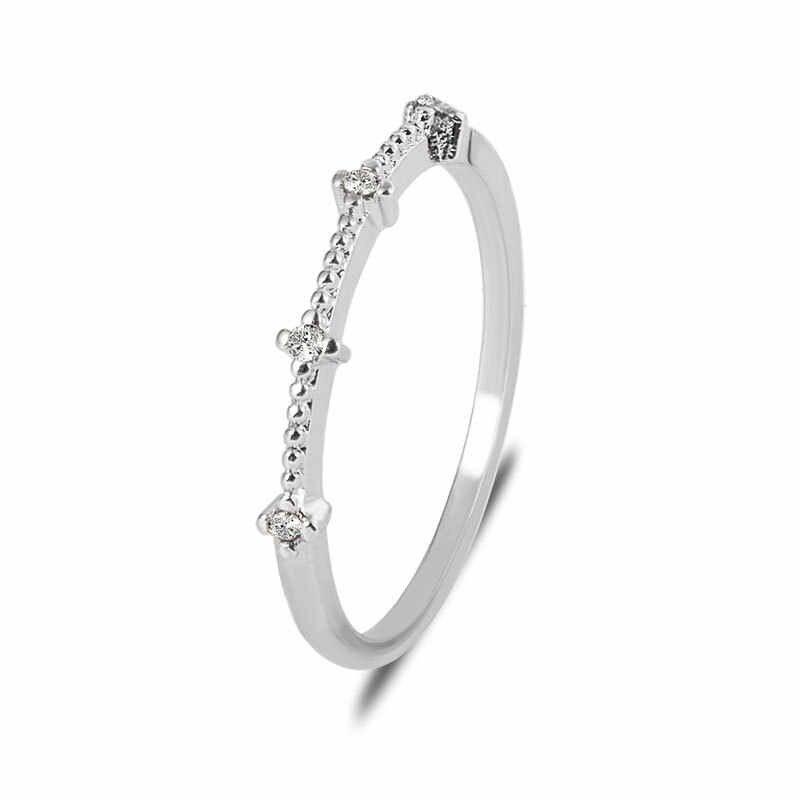 4 маленькие блестящие Кристальные простые Стильные тонкие золотые серебряные кольца для женщин