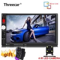 7'' 1024*600 Touch Screen 7080B Car Radio 2 Din no dvd Auto audio Player Stereo bluetooth USB SD MP3 Rear View Camera autoradio