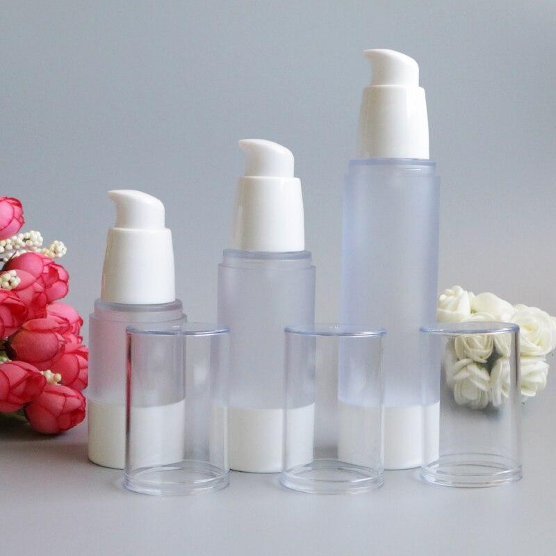 Hot 15ml 30ml 50ml Empty Airless Frosting Bottles Liquid Refillable Packaging Makeup Maquiagem Tools Travel Kit