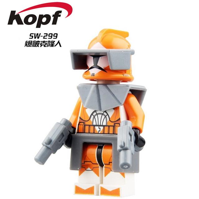 Single Sale Star Wars 7 The Force Awakens Clone Trooper Commander Fox Rex Building Blocks Education Toys for children PG8002