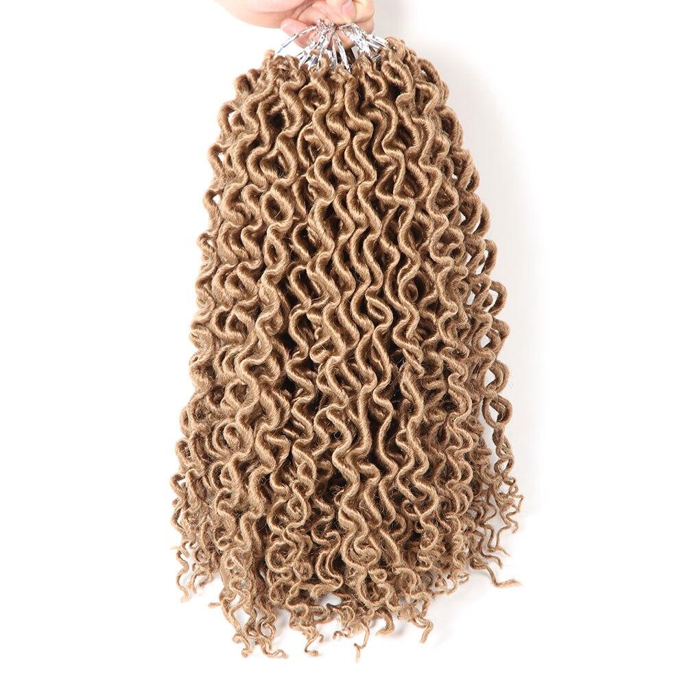 Saisity 16 Inch Deep Faux Locs Curly Crochet Hair