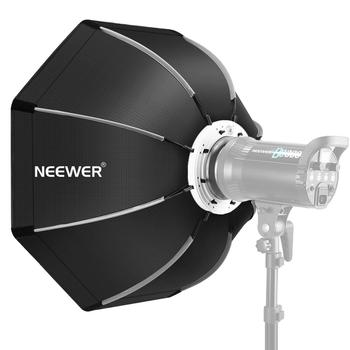 Neewer 26 inches/65 centimeters Foldable Octagonal Softbox with Bowens Mount Speedring, Carrying Case for Speedlite Studio Flash