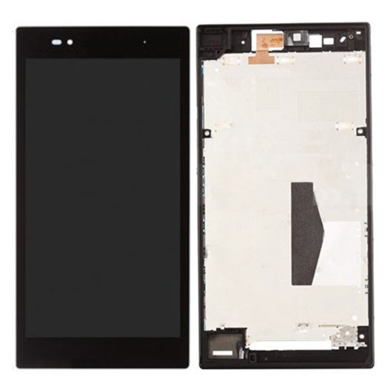 LCD Display Touch Screen Digitizer Assembly + Frame For Sony Xperia Z Ultra XL39h Black Free Shipping