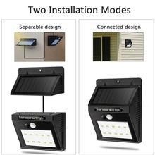 20 30 48 LEDs Solar Panel Light Split Separate PIR Motion Sensor Solar Garden Lamp Outdoor Waterproof Powered Street Wall Light