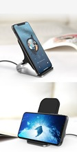 Wireless Charger Qi Quick Phone Charger Desk Stand with One Meter Type C to USB Cable Without AC Adapter