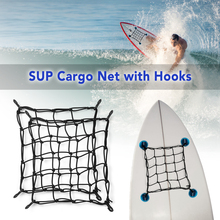 1PC/2 PCS Universal Bungee Cargo Net SUP Deck Storage Mesh Paddle Board Motorbike Motorcycle with Hooks