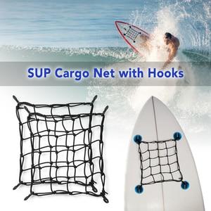 1PC/2 PCS Universal Bungee Cargo Net SUP Cargo Net Deck Storage Mesh Net Paddle Board Motorbike Motorcycle Cargo Net with Hooks