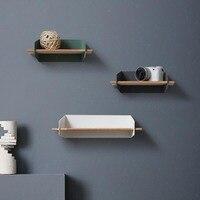 Современный творческий повесить стены деревянные полки положить кружка кофе предметы первой необходимости дома краткое украшения большая