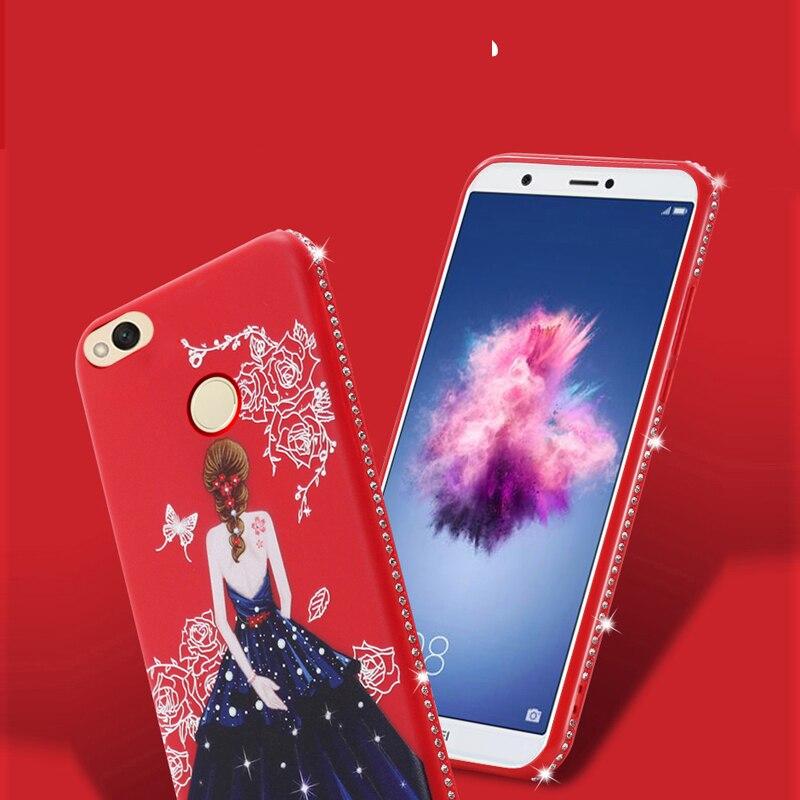 Dress girl silicone case huawei p smart (8)