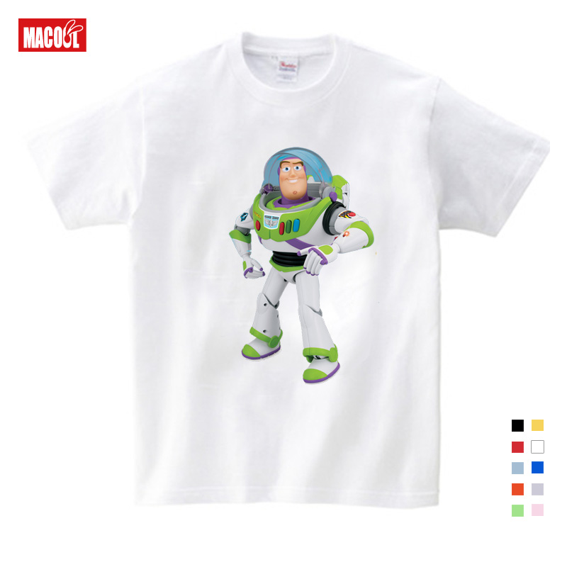 Kids Girls Clothes for Summer Printing T Shirt Short White Cotton T-shirts Baby