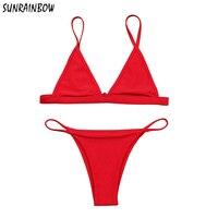 SUNRAINBOW Sexy Mini Micro Bikini Swimwear Women Swimsuit 2017 Summer Brazilian Bikini Set Beach Bathing Suits