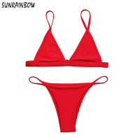 SUNRAINBOW Sexy Mini Micro Bikini Swimwear Women Swimsuit 2017 Summer Brazilian Bikini Set Beach Bathing Suits