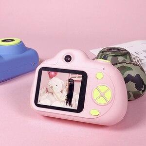 Image 4 - Mini dla dzieci aparat fotograficzny HD 1080P 2.0 cal dzieci z przodu z tyłu podwójny obiektyw cyfrowa kamera wideo rozpoznawanie twarzy Camara Fotografica Cam