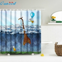 Digital Print Waterproof And Mildewproof Shower Curtain Size 180*180 CM And 12 Hooks Bathroom Shower Curtain dropship 2jun27