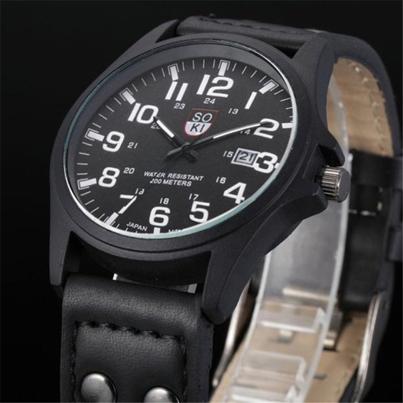 Vintage Classic Watches Men Waterproof Date Leather Strap Sport Quartz Army Sport Watch Luxury Male Hour Relogio Masculino watch men vintage classic men s waterproof date leather strap sport quartz army watch reloj hombre clock gift drop shipping
