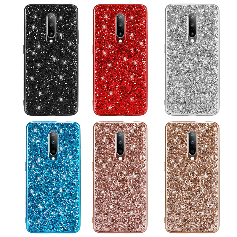 Case for OnePlus 7 Pro Case Silicon Bling Glitter Crystal Sequins Soft TPU Cover Fundas for One Plus 7 Pro Coque in Fitted Cases from Cellphones Telecommunications