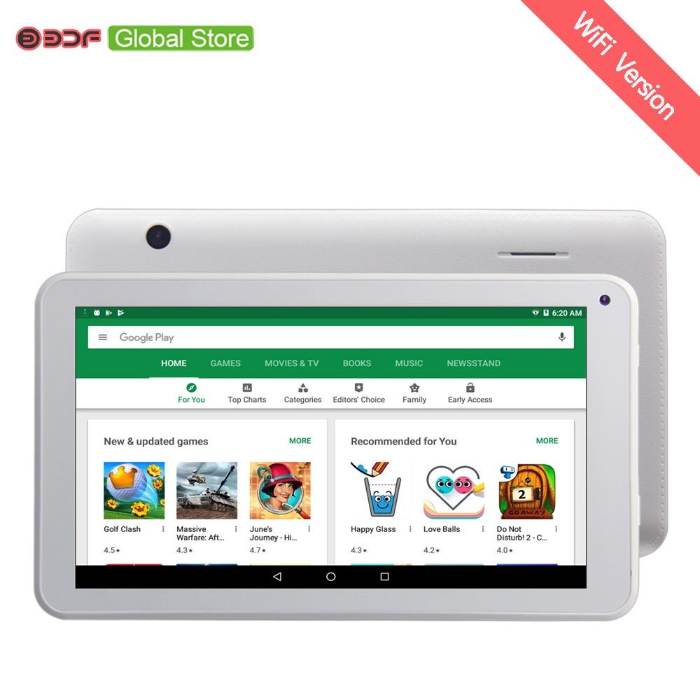 цена на 7 Inch Android 6.0 system Children Tablet PC Education 1GB 16GB Quad core Nice Design Learning entertainment tablet Pc