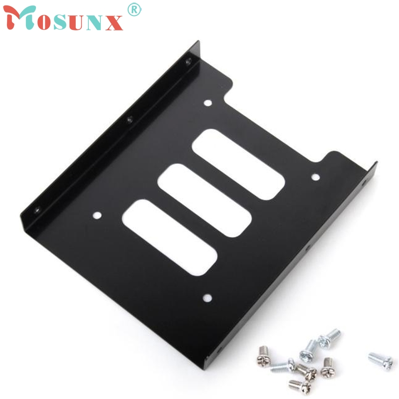 2.5 SSD HDD To 3.5 Mounting Adapter Bracket Dock Hard Drive Holder For PCKXL0218 hot sale 1pc hard disk drive mounting bracket kit for playstation 3 ps3 slim cech 2000 fw1s for ps3 slim hard drive bracket